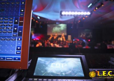 Närbild på teknik under event